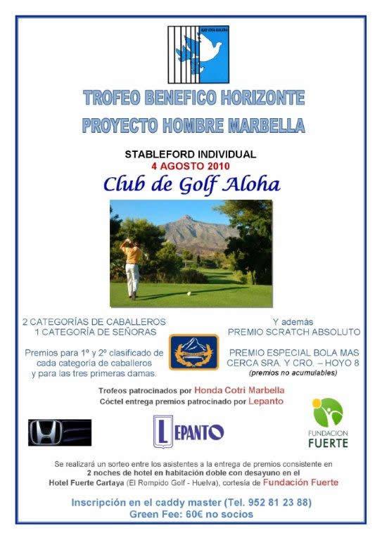 Entrega de premios del Trofeo benéfico de Golf, el 14 de agosto