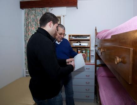 Una de las habitaciones de la Vivienda Tutelada de Apoyo al Tratamiento