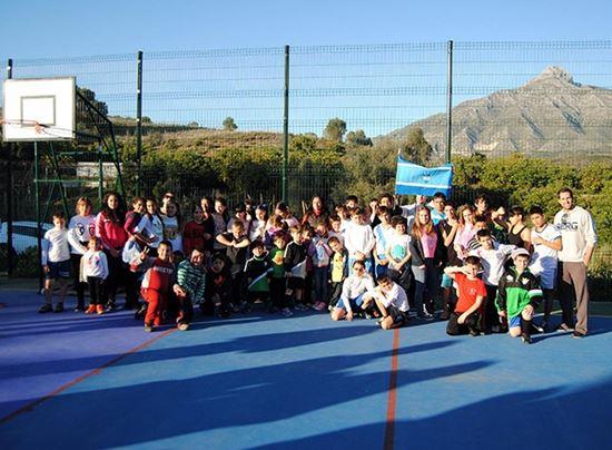 ¡Qué recuerdos! Primer partido entre los menores de La Patera y los de El Ángel, en las pistas del colegio Echamendi
