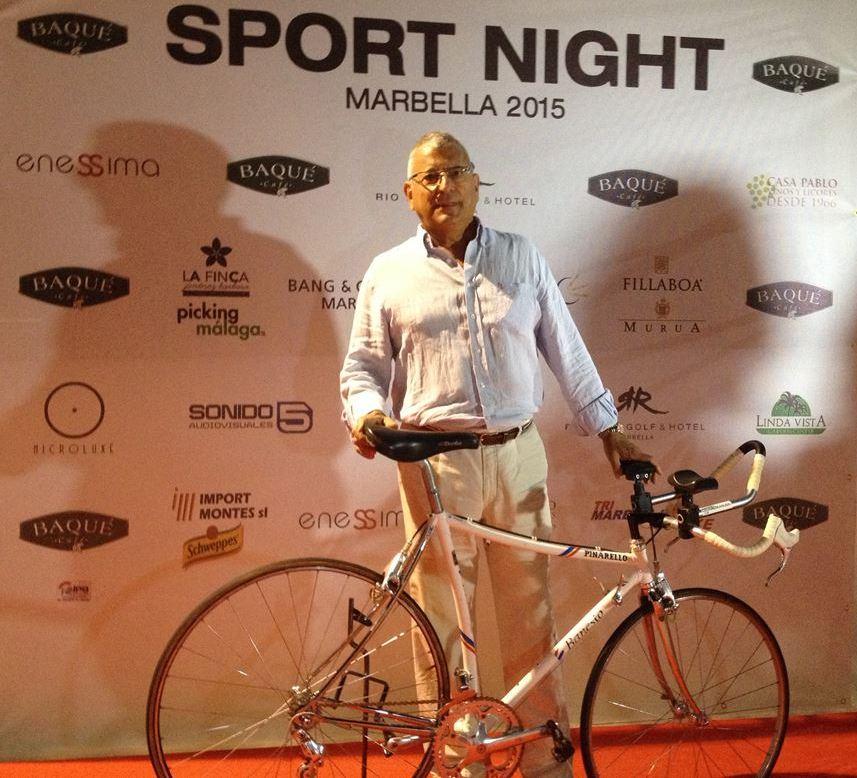 El Coordinador de Pivesport, Luis-Domingo López, llega a la fiesta con aroma ciclista