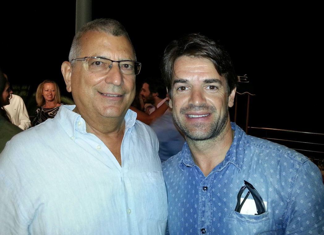 Luis-Domingo junto a Carlos Checa, leyenda del motociclismo español