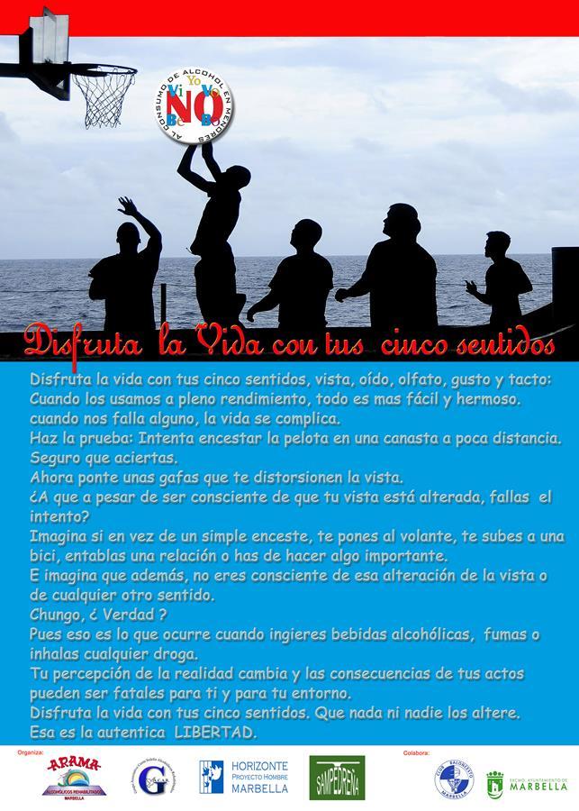 """""""Disfruta la vida con tus cinco sentidos""""; Horizonte Proyecto Hombre Marbella; Feria Social Marbella 2017"""