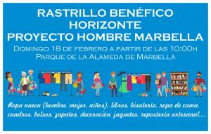 Aplazado hasta el domingo 18 de febrero el Rastrillo Benéfico de Horizonte Proyecto Hombre Marbella