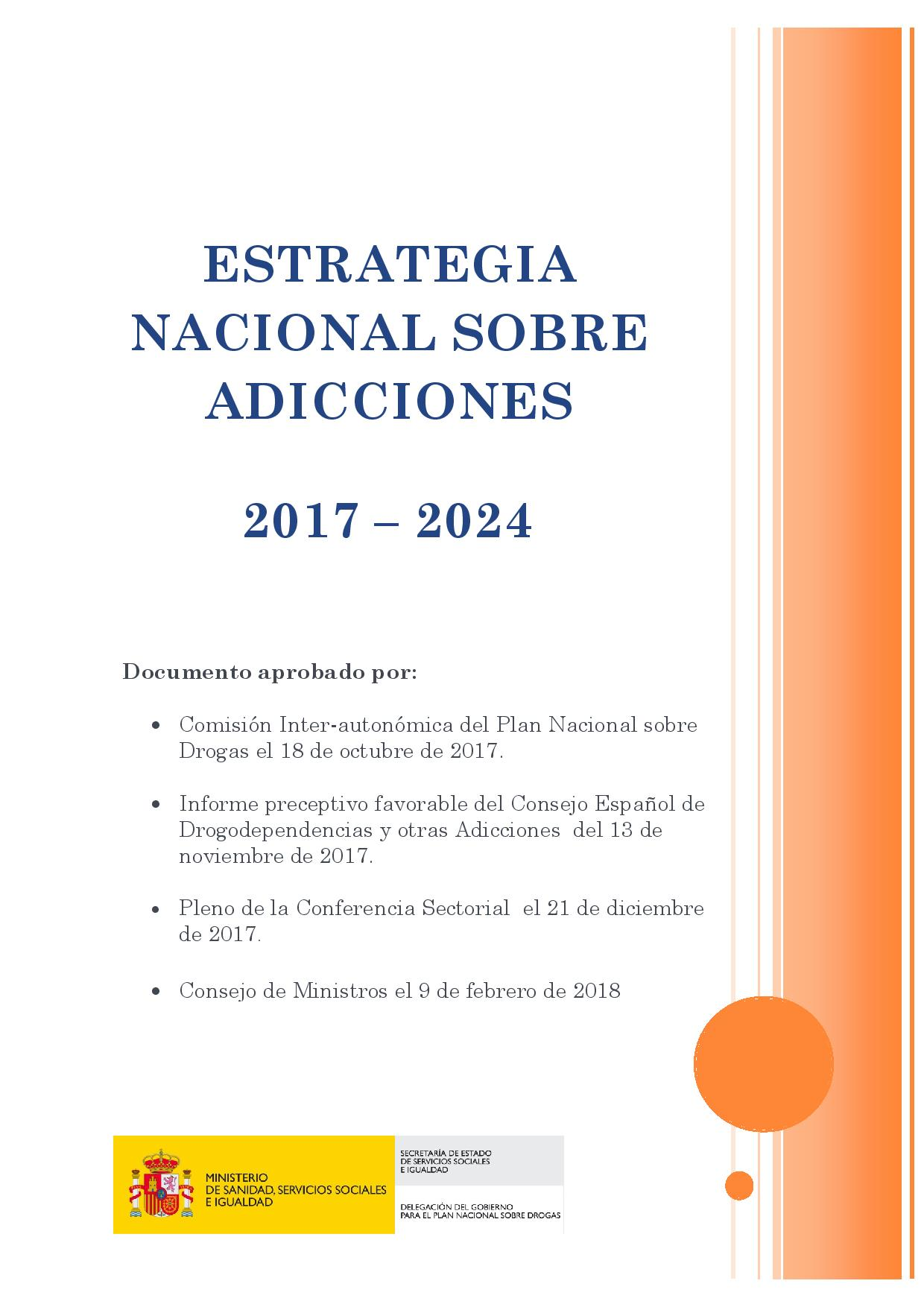 ESTRATEGIA NACIONAL SOBRE ADICCIONES  2017 – 2024